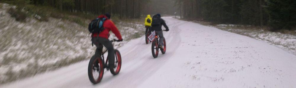 Pirmasis savaitgalis su sniegu ir FatBike